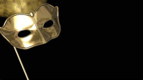 flying venetian mask golden stock footage video
