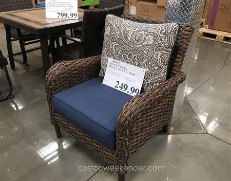 studio by brown woven accent chair costco weekender