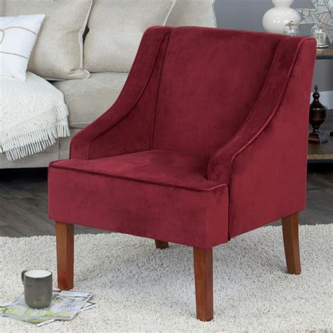 60 homepop velvet swoop arm accent chair tiny size
