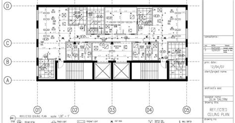 construction documents reflected ceiling plan sample page