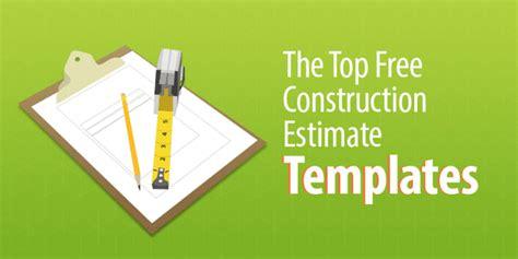 construction estimate templates