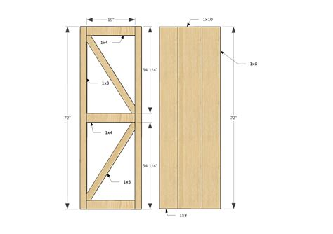 How To Frame A Barn Door by White Sliding Door Cabinet For Tv Diy Projects