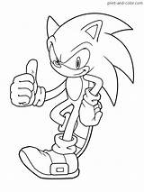 Sonic Hedgehog Coloring Printable Sheets Printables Boys Characters Cartoon Character Colors sketch template