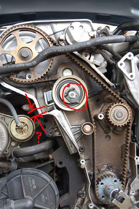 timing belt tensioner loosening  running  minutes