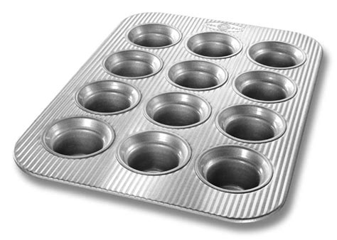 usa pans nonstick aluminized steel crown muffin pan  cup cutlery