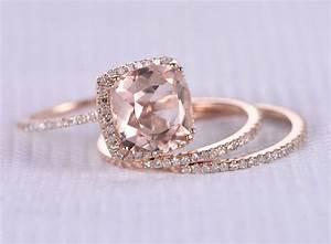 3pcs wedding ring setmorganite engagement ring9mm big With large wedding ring sets