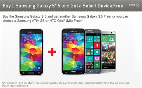 verizon buy one get one free iphone samsung galaxy s5 up for pre order on verizon