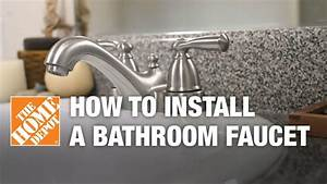 How To Install Or Replace A Bathroom Sink Faucet YouTube