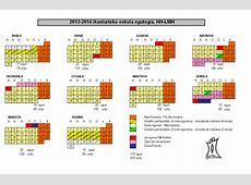 Calendario escolar Euskadi 20132014 Calendario escolar