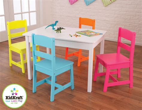 kids table n chairs kidkraft highlighter table 4 chair set by oj commerce