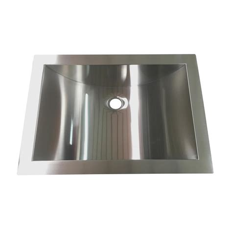 decor sinks y decor hardy 16 5 in undermount bathroom sink in stainless steel hbbr2116 the home depot