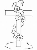 Funeral Coloring Cross Pages Sun Button Using Template Grab Could Well Easy sketch template