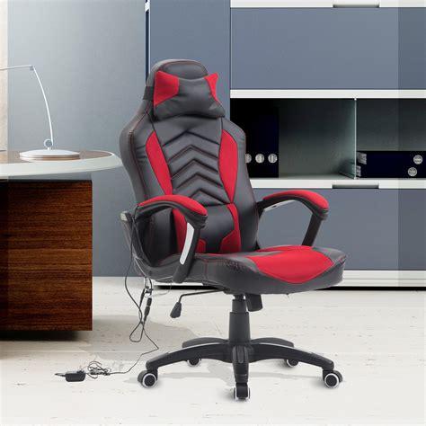 homcom ergonomic office chair heated vibrating