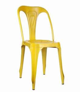 Chaise Style Industriel : chaise style industriel en m tal vintage jaune ~ Teatrodelosmanantiales.com Idées de Décoration