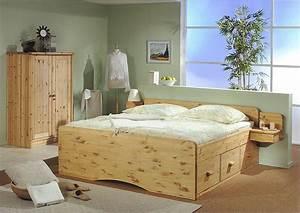 Bett Komforthöhe 180x200 : bett mit schubladen echtholz kiefer massiv kiefern m bel fachh ndler in goslar ~ Markanthonyermac.com Haus und Dekorationen