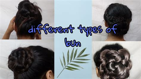 Different types of bun hairstyles quick and easy YouTube