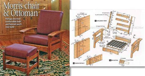 morris chair recliner plans 2412 morris chair and ottoman plans woodarchivist