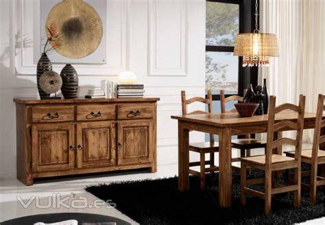 foto mueble de comedor rustico mexicano sillas mesa