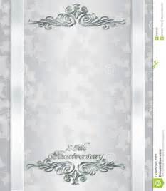 25 ans mariage invitation d 39 anniversaire de mariage 25 ans photo stock image 9686180