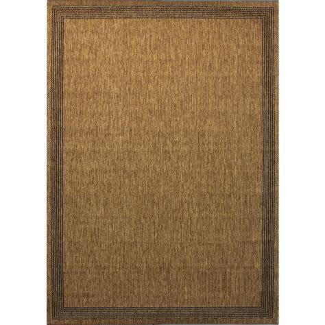 allen roth rugs shop allen roth decora rectangular cream with beige border indoor outdoor woven area rug