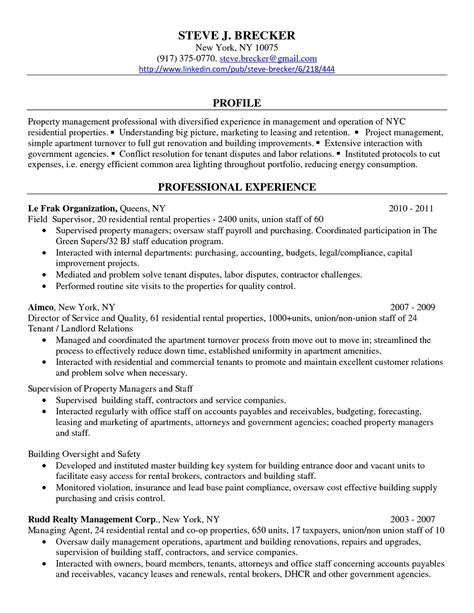 Professional Manager Resume by Commercial Property Manager Resume