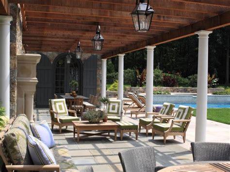 mediterranean backyard  pool  pergola janice