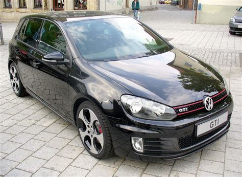volkswagen black vw golf 6 gti volkswagen golf gti black dynamic johnywheels