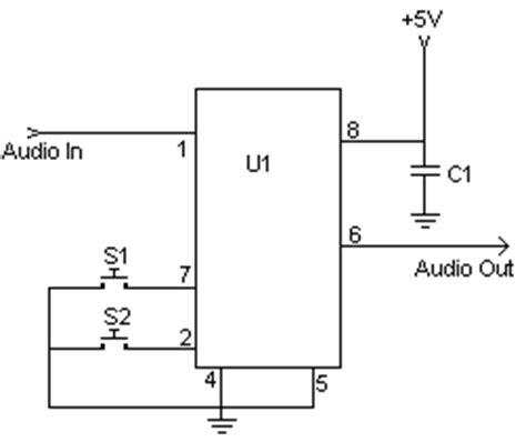 How Build Simple Digital Volume Control Circuit Diagram