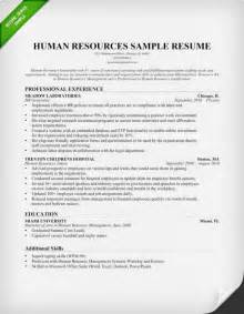 human resource resume sles human resources cover letter sle resume genius