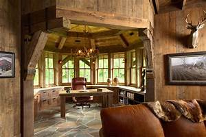 manly office home office traditional with desk fireplace