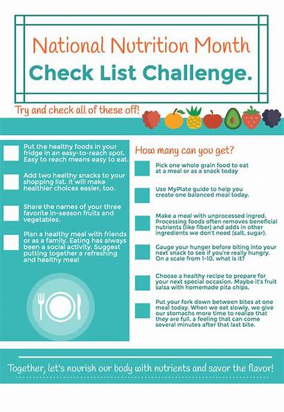 Aim Nutrition National Month Example Science Infographic