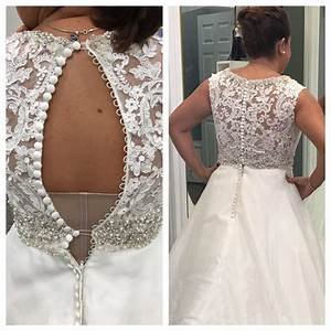 before and after photos before my wedding dress was too With how to alter a wedding dress