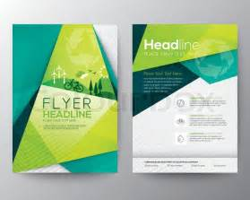 template design abstract triangle brochure flyer design vector template in a4 size stock vector colourbox