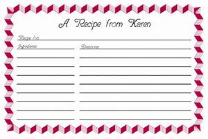 free recipe card templates in word corel draw indesign With publisher recipe template