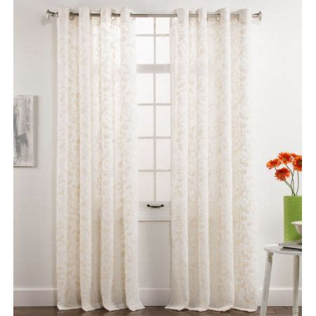 maison darcy chenille ivory grommet top curtain