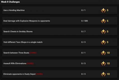 Season 3 Week 8 Leaked Challenges For Fortnite Battle