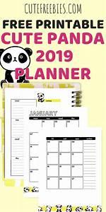 Free Weekly Planner Pages 2019 Free Printable Planner Cute Pandas Printable