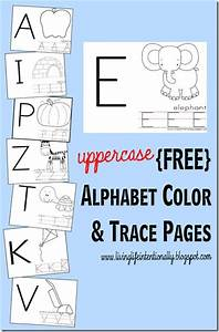free uppercase alphabet color trace pages tracing With traceable letters for signs