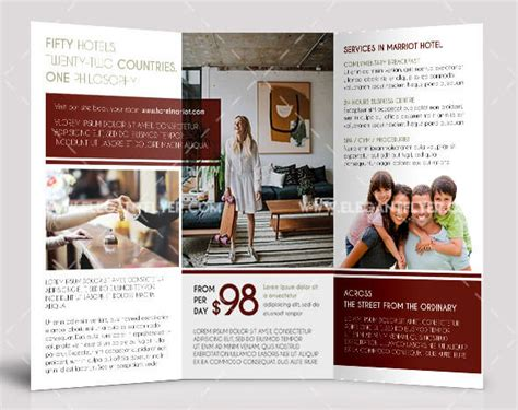 Hotel Free Psd Tri Fold Psd Brochure Template By 40 Free Professional Tri Fold Brochures For Business