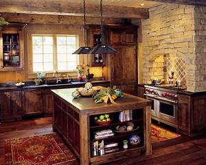 Mountain Cabin - Traditional - Kitchen - other metro - by
