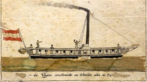 Barco De Vapor Dibujo by 191 En Qu 233 Ciudad Andaluza Se Construy 243 El Primer Barco De