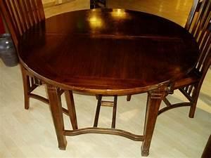 Table Ronde Avec Rallonge : table ronde avec rallonges ~ Teatrodelosmanantiales.com Idées de Décoration
