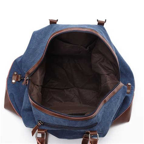 Large Capacity Men Washed Canvas Weekender Bag Duffle Bag ...