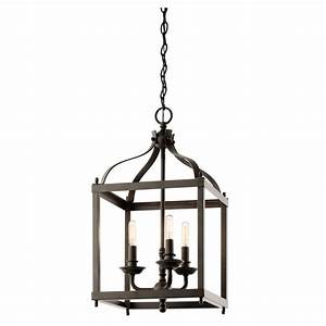 Vintage coach lantern style ceiling pendant in old bronze