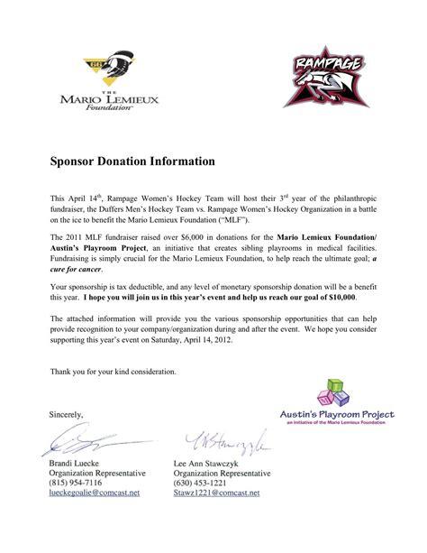 event sponsorship letter samples  profit resources