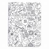 Notebook Poetry Colouring Paper Activity Monsters X2 sketch template