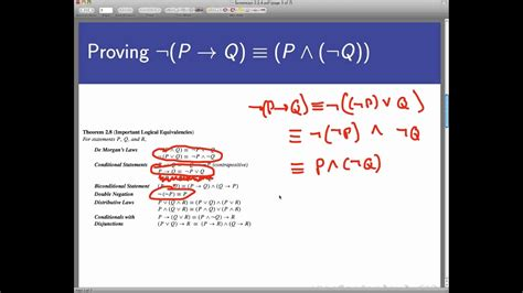 logical equivalence  truth tables screencast