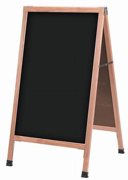 Chalkboard Frame Write Wooden Sidewalk
