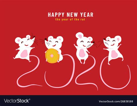 happy chinese  year year rat royalty  vector