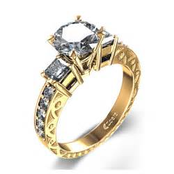 three engagement ring yellow gold engagement rings yellow gold engagement rings three stones
